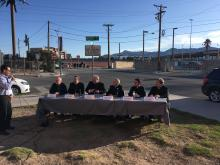 Bishops sitting at a panel in El Paso.